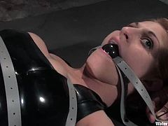 Tawni Ryden will suffer some pretty extreme bondage in this video but at least she's gonna get her pussy toyed for orgasms.