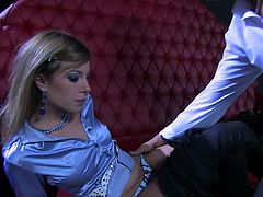 She looks gorgeous in his charming satin blouse. He fucks her nice butt and licks it from time to time. be pleased with one Tainster clothed sex tube video.