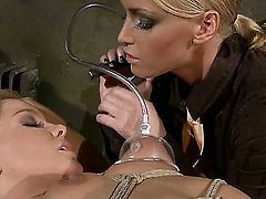 Blonde Kathia Nobili and Salome get satisfaction in steamy lesbian action
