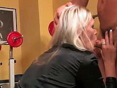 He takes off her short skirt and drills her pussy hard in all possible styles right on the fitness equipment. Enjoy hot Tainster XXX scene for free.