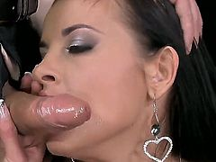 Brunette Candy Alexa with big hooters is in the mood for bottom fucking