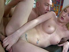Skylar Green is his daughters best friend. Shes a naive blonde chick with firm tits and tight totally smooth pussy. She gets her sweet hole drilled deep and hard by horny as hell older guy.