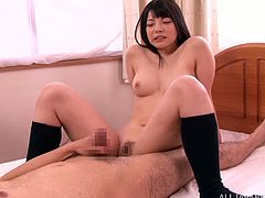 Her name is Ai Uehara and she can seduce any man, as the way she sucks that dick is so fucking perfect! So this time she is rolling int he hay with her private teacher!