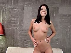Well-stacked chick Milla Yul spends time dildoing her twat for cam