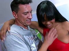 Marco Banderas uses his thick cock to bring blowjob addict African Lexi Doll to the edge of nirvana