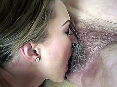 Brunette Norma is in heaven doing it with horny lesbian Vicky Braun