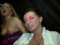 You are welcome here to be pleased with hot and kinky porn tube video produced by Tainster porn site. A lot of drunk bitches lick each others bodies and sucks nipples.