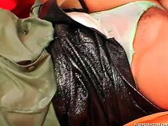 Aroused wanker makes out with three insatiable chics in steamy outfits and stockings. He pokes them in turns in reverse cowgirl and sideways poses in sultry sex video by Tainster.