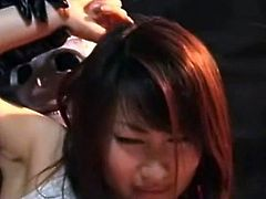 Sexy japanese lesbians are enjoying one another during sexy masturbation scene