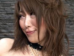 Spoiled Japanese bimbos in steamy black lingerie and stockings gets her big tits oral stroked and bearded pussy finger fucked rapaciously before she welcome a tongue fuck in hardcore sex video by Jav HD.