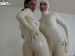 Tanja and Agate are wearing tight latex costumes wrapping their bodies tight. So if you are into such kinda freaky porn clip, check them up on anysex.com for free.