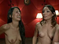Amber Rayne and Lyla Storm kiss and then finger each others asses. Later on they fist and fuck each others asses with strap on.