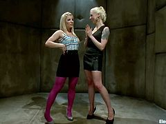 The strapped girl is Ashley Fires and she's going to eat pussy when she gets face sit by Lorelei Lee in this kinky lesbian video.