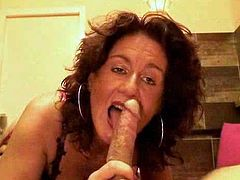 Welcome to enjoy Red Light Sex Trips XXX clip. Horn-mad brunette with curly hair desires to please her clients from Italy. This pale bitch isn't pretty. Her tits are small. But this whore is a great dick sucker, whose blowjob is solid and unforgettable.