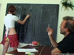 During individual consultations skinny brunette student lures a horny teacher with her outright outfit. She takes it off to demonstrate her shaved vagina in sultry sex video by Pack of Porn.