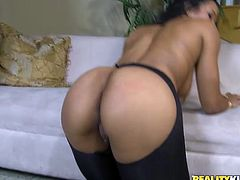 Welcome to enjoy incredibly hot Reality Kings sex clip. Zealous brunette in stockings and black stuff wanna get her wet pussy drilled properly. Doggy fuck will be more than perfect for this kinky mission. Booty gal can do nothing but moan of delight like a mad one.