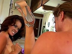 Two dick thirsty babes Daisy Marie and Jessi Summers love having a big, fat dick in their mouths