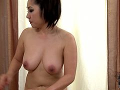 Scorching Asian hottie with big melons shows her patient what real massage therapy is all about. First, she lets him get a taste of her pussy and then she blows his dick in 69 position. And then she licks his asshole greedily pushing him to the edge of orgasm.