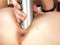 Check out this amazing fisting video! Naughty brunette babe Isabella Clark stuffed her puss can and it was not enough so she fisted it with base ball bet!