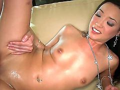 Mark Ashley loves to stuff Miko Sinzs pussy and she adores to give him head and make it rain