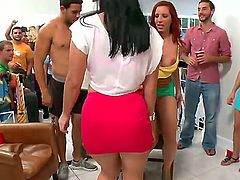 Ashli Orion, Diamond Kitty and Kelly Divine enjoy wild parties with their friends