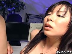 This chick Satomi Maeno has petite body and tight hairy cunt! She rides the dick like crazy and loves it deep inside her pussy!