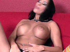 Claudia Capri is full of passion to fuck herself with toy