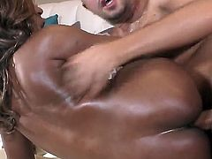 African gets her mouth fucked silly by fuck hungry Keiran Lee