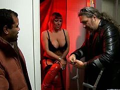 Red Light Sex Trips XXX clip will surely impress and please you at once. Horny a bit plump blond whore in sexy stuff and heels is paid well to please a black stud. So spoiled bitch takes the lead and sucks a strong black dick passionately for cum.