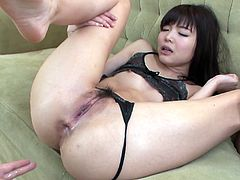 Thirsty dudes eats Megumi one by one pleasing her much. Then one of the dudes thrusts his dick in her mouth. Meanwhile she is riding the other dick.