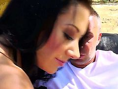 Jayden Jaymes with massive hooters is an anal addict that loves Keiran Lees hard dick so much