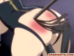 Busty hentai maid with muzzle gets whipped and dildoed ass and pussy movies by www.grabhentai.com
