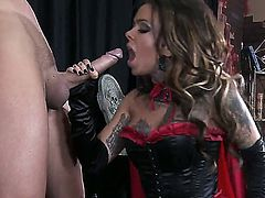 Luxury tattooed witch Julia Bond conjured a sexy man with powerful dick named Keiran Lee