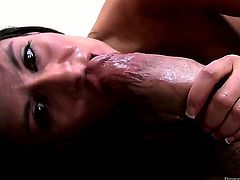 Nikki Daniels gagging on Billy Glide's sturdy worm