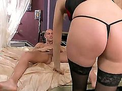 Interested in witnessing beautiful blonde girl Teena Dolly getting double penetrated Then watch her sucking two cocks before getting one of them deep inside of vagina.