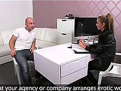 FemaleAgent Casting creampie for teasing agent 1