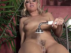Aaliyah Love with tiny tities and clean twat rubbing her pussy