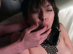 Sexy Japanese girl is all tied up and is about to experience some hardcore pussy toying. Her secret lover wants to make her cum!