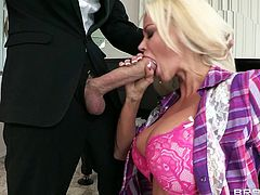 Piano lessons? Fuck that this superb Russian mom needs a hard cock not piano lessons. Check her out, what a beauty she is! Blonde hair, sensual lips that she wraps perfectly around a massive cock and a booty that deserves some hardcore fucking. She needs the guy's big dick and receives it deeply