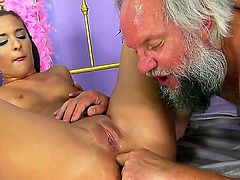 Brunette Amirah Adara is good on her way to make hard cocked guy ejaculate in hardcore action