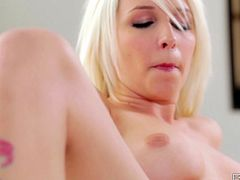 Stevie Shae is an incredibly hot blondie and what a lovely face she has! She is wet and very horny; all she wants to do is masturbate for us, fingering her lovely twat until she cums.