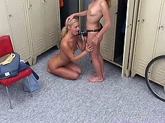 Remember the girls locker room in the gym? It looks like Jenny and Susana are finding themselves in the perfect spot for a little rest and relaxation after a long day! Check out this amateur scene as Jenny & Susana engage in hardcore strapon fucking.