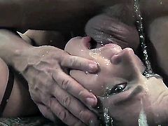 Bobbi Starr satisfies dudes sexual desires and then gets her lovely face cum drenched