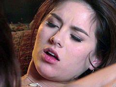 Jaw-dropping brunette seductress Shyla Jennings is a natural born cunt licker! She spreads her girfriend's legs wide so she can lick her juicy pussy.