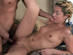 Dude fucking porks this blonde virgin chick and destroys her fucking hymen in this kickass hardcore sex scene, check it out!
