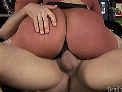 Mature blond slut with huge jugs and rounded fat ass is fucking furiously in a dirty porn clip. She is nailed brutally in a missionary position. Later in the video, mommy gets on the tops of hard shaft riding it vigorously. Outrageous porn video presented by Fame Digital.