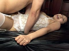Ardent brunette from Japan presented in Jav HD sex clip is surely worth checking out. This harlot in sexy white nightie can turn the overused mish into a great and nonstop sex adventure for orgasm.