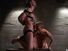 A super hot bondage scene featuring a couple of horny gay men having hot hardcore sex, hit play and check it out right here!