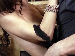 Jenni Lee gets penetrated good and hard by Derrick Pierces stiff snake