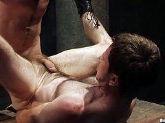 Check out this gay bondage video where two horny homosexual guys have fun playing with one another as well as torturing each other.